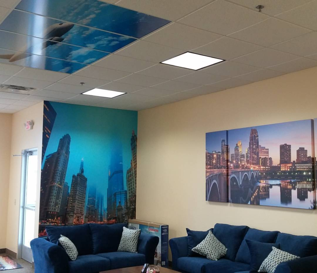 Interior Wall Graphics Can Be An Amazing Form Of Internal Marketing. From  Words Of Inspiration To Large Colorful Images, We Offer Low Tack Vinyl That  Acts ...