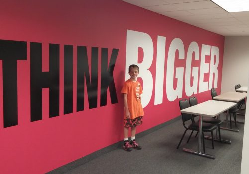 Amazingly Large Wall Graphics at Twin Cities Real Estate Agency