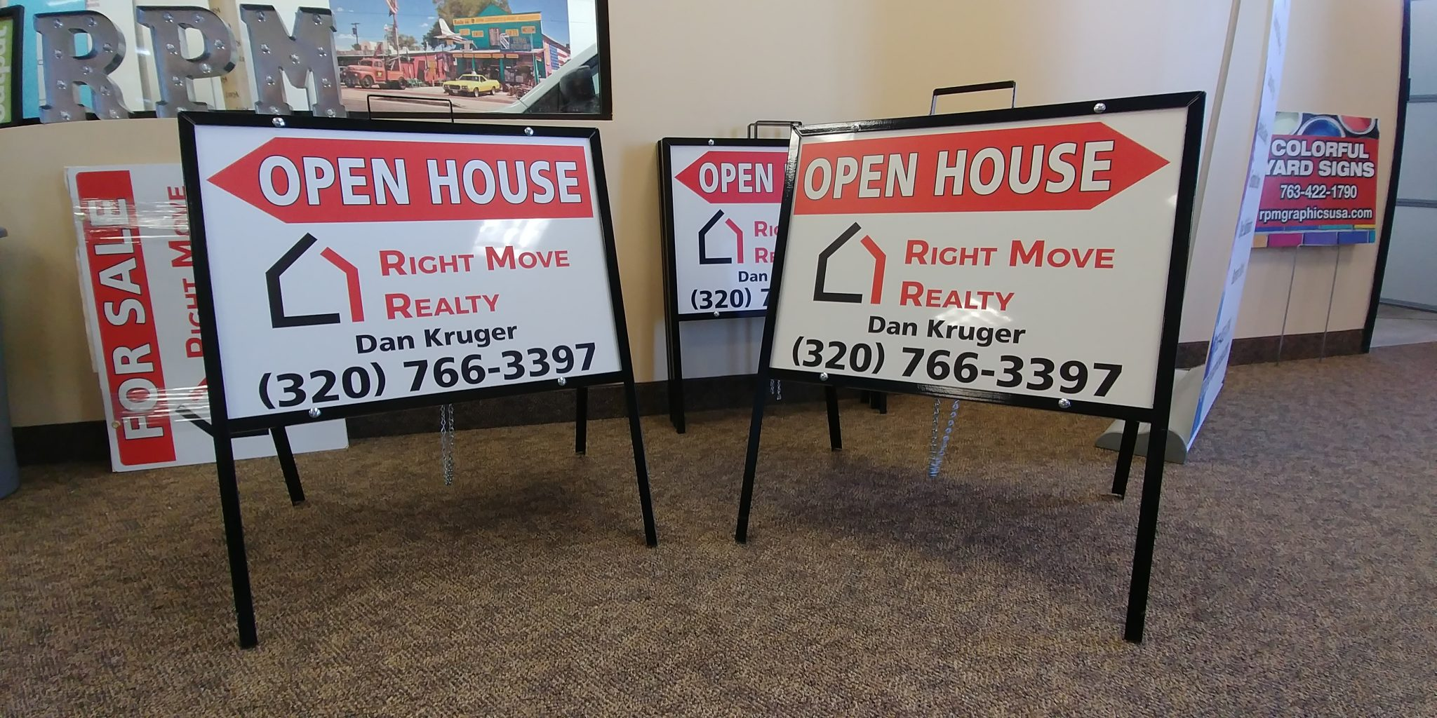 Real Estate A Frame Open House Signs - RPM Graphics