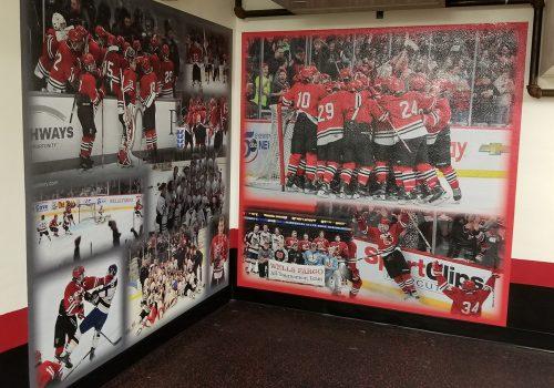 Wall Mural; Monticello Moose Hockey