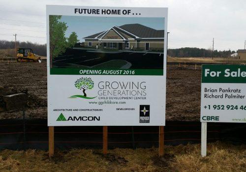 Printed Development Signs
