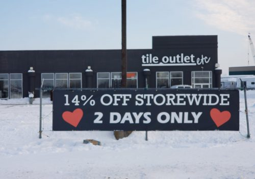 Durable Banners; Tile Outlet Rogers