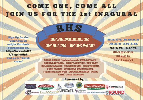Support Rogers High School; Family Fun Fest