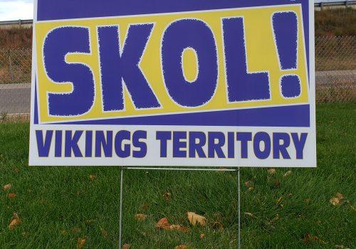 Novelty MN Football SKOL Signs for sale