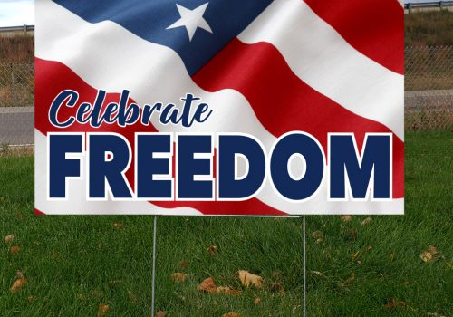 Celebrate Freedom Yard Sign