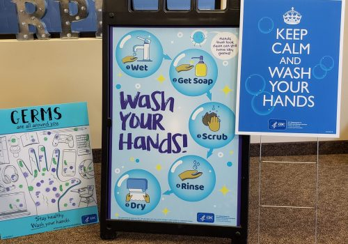 Wash your hands! Signs