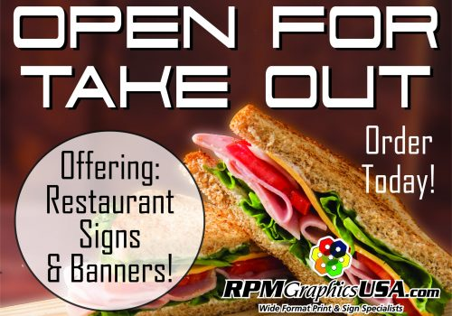 Restaurant Take Out Signs and Banners