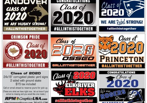 Class of 2020 Graduation Sign Mention in Minnesota Monthly Magazine