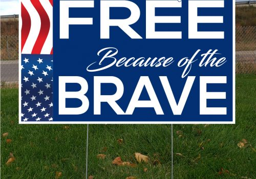 Celebrate Freedom & Home of the Free Yard Sign