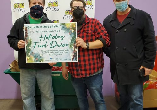 Local Rogers BNI Group; Holiday Food Drive for Cross