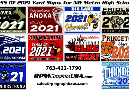 Class of 2021 Graduate Yard signs
