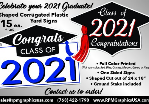 Shaped Corrugated Plastic Graduate Signs