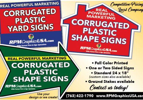 Real Estate Custom Shaped Corrugated Yard Signs