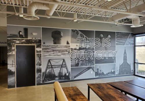 Interior wall graphics with impact